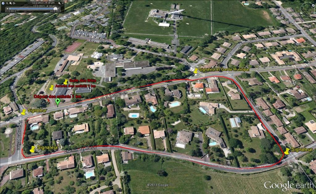 Plan enfants 1 km avec signaleurs
