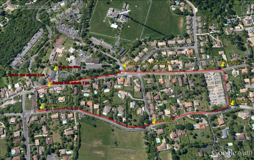 Plan enfants 2km avec signaleurs